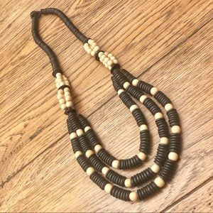 Wooden beaded necklace!